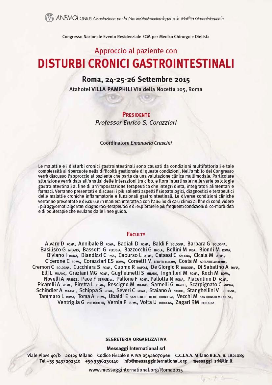 Disturbi Cronici Gastrointestinali Roma 2015